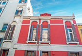 Red and white buildings — Foto Stock