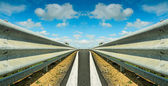 Symmetrical guardrail — Stock Photo