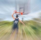 Blurred dunk — Стоковое фото