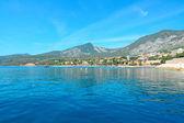 Blue sea in Cala Gonone — Stock Photo