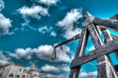 Hdr catapult — Stock Photo