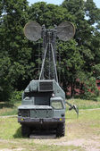 Military mobile communications center — Stock Photo