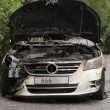 Burned-out car — Stock Photo