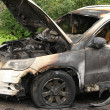 Stock Photo: Arson VW burned