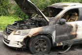 Arson VW burned — Stock Photo