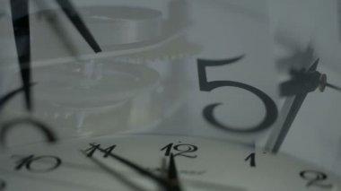 циферблата часов — Стоковое видео