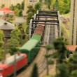 Stock Video: Miniature railway