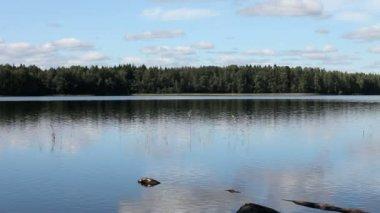 Lago blu — Video Stock
