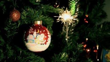 Kerst bal — Stockvideo