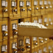 Stock Video: Library Card Catalog