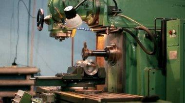Fräsmaschine — Stockvideo