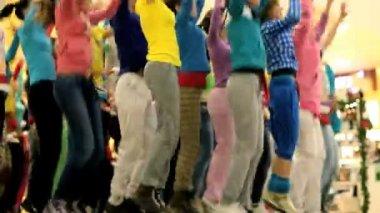 Dance team — Stock Video
