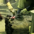 Stock Video: Blacksmiths