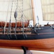 Stock Video: Model historic sailing ship