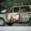 Burned-out car — Stockfoto
