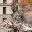 Stock Photo: Demolition of old building