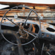 Stock Photo: Car cockpit after fire