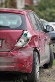 Crashed the car — Stock Photo