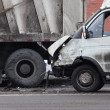 Stock Photo: Collision of truck and car