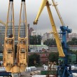 Portal cranes - Stock Photo