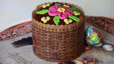 Easter cake — Stock Video