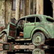 Car in street ghost town — 图库照片 #25843611