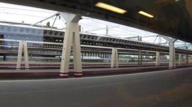Reser med tåg — Stockvideo