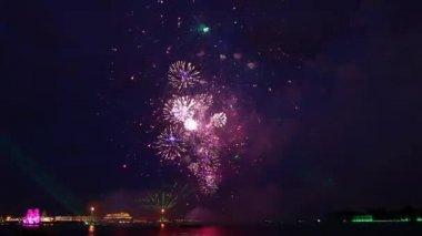 Fireworks in St. Petersburg — Stock Video
