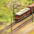 Freight train in motion — Stock Photo
