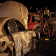 Collision on night road — Stock Photo #34335819