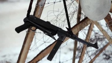 MP40 German submachine gun — Video Stock