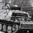 German tank in camouflage coloring — Stock Video