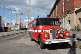 Red fire engine — Stock fotografie