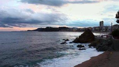 Spiaggia di sera — Video Stock