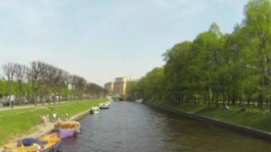 Pleasure boats time Lapse — Stock Video