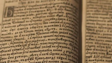 Ancient manuscript reading — Stock Video
