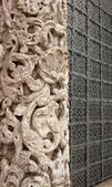 Carved stone column — Stockfoto