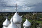 Dome of St. Sophia Cathedral in Vologda — Stock Photo