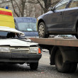 Incredible collision of a passenger car and a tow truck — Stock Photo #51028329