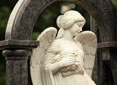 Angel in the guise of a beautiful girl — Stock Photo