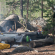 Touristic camp in a forest — Foto de Stock