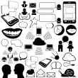 Collection of communications icons - Imagens vectoriais em stock