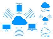 Cloud computing icons — Stock Vector