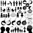 Collection of human related icons - Stock Vector