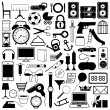 Collection of icons of objects — Stock Vector