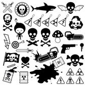 Set of danger skull icons — Stock Vector