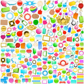Collection of labels, tags and speech bubbles — Stock Vector