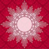 Elegant round decorative red label — Stock Vector