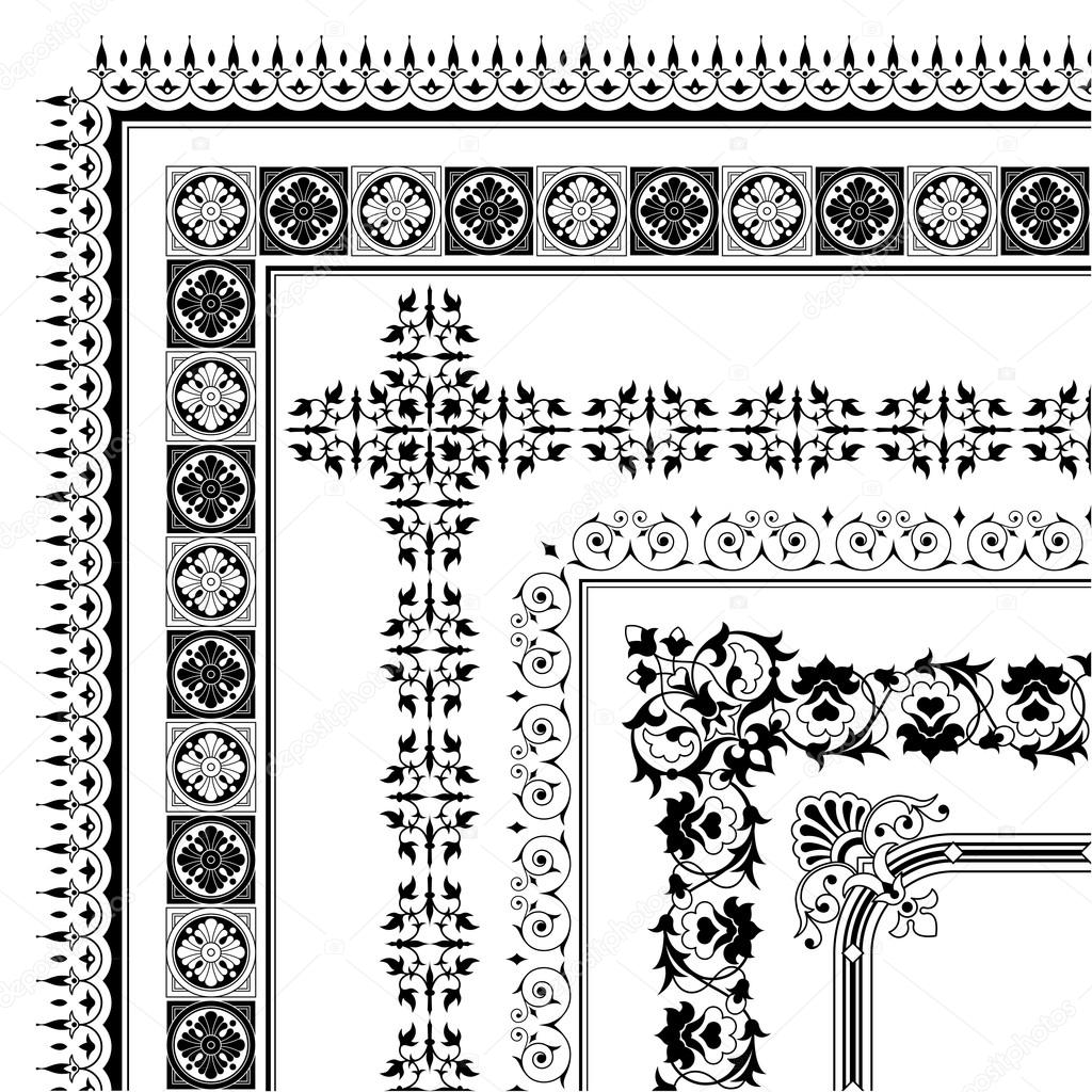 Elegant Corner Borders Ornamental Corner Border Made
