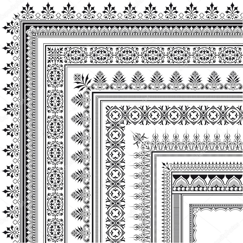 Elegant Corner Borders Elegant Corner Border Made of